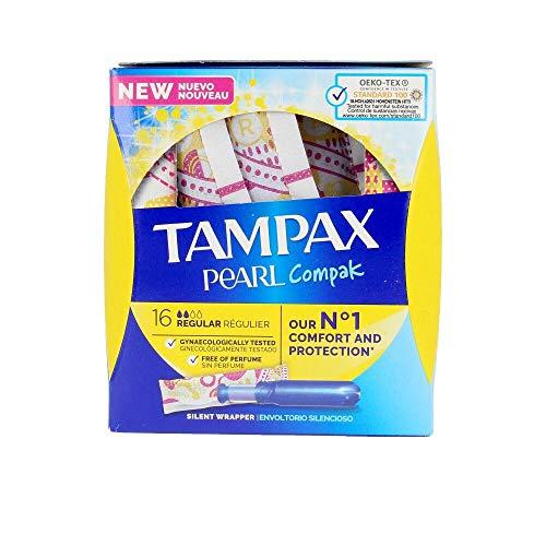 Tampax Compak Pearl Regular mit Applikator, Schutz und Diskretion, 128 Stück, 1090 g
