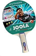 JOOLA Python Recreational Ping Pong Paddle - ITTF Approved Table Tennis Rubber - JOOLA Technology Ensures Ideal Ball Control and Spin - Table Tennis Racket for All Skill Levels - Anatomic Handle Grip