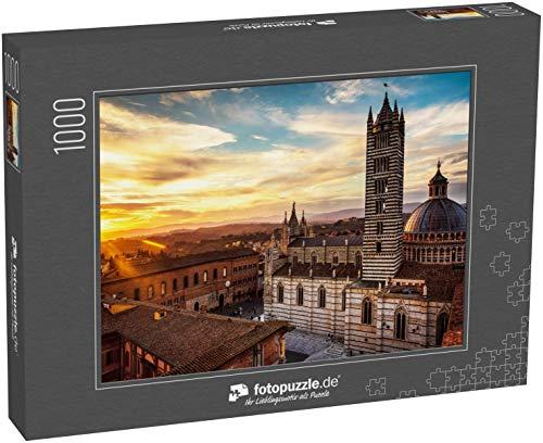 Puzzle 1000 Teile Die wunderschöne mittelalterliche Stadt Siena in der Toskana, Italien - Klassische Puzzle mit edler Motiv-Schachtel, Fotopuzzle-Kollektion 'Italien'