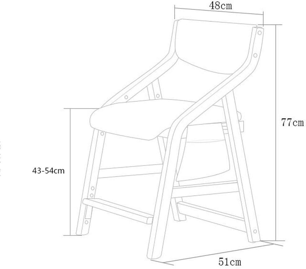 Tabourets YYF Réglable Hauteur 43-54 cm en Bois Solide Chaise Détachable Facile À Nettoyer Siège Couverture Fauteuil D'étude Fauteuil (Couleur : A) N