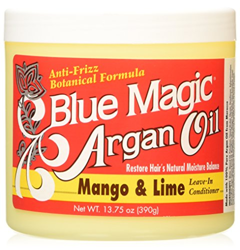 Blue Magic Argan Oil Mango/Lime Leave In Conditioner, 13.75 Ounce for 1 PACK.