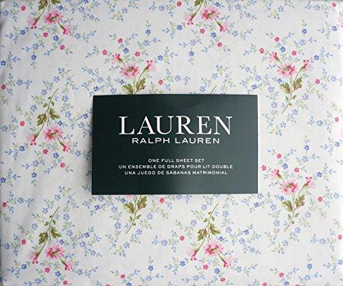 Ralph Lauren Pink Blue Green Country Cottage Floral Sheet Set Full