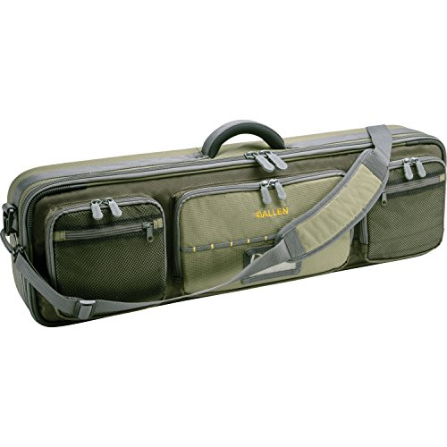 Allen Company Cottonwood Fly Fishing Rod & Gear Bag Case, Hold up to 4 Fishing Rods, Heavy-Duty Honeycomb Frame, Olive