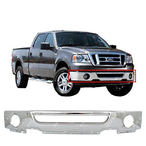 MBI AUTO - Chrome, Steel Front Bumper Face Bar for 2006 2007 2008 Ford F150...