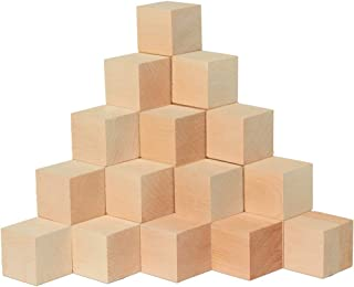 Wooden Cubes 1-3/4 Inch, Bag of 20 Wood Square Birch Blocks for Puzzle Making, Crafts, and DIY Projects by Woodpeckers
