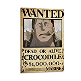 Anime One Piece Wanted Poster Krokodil Poster Dekorative