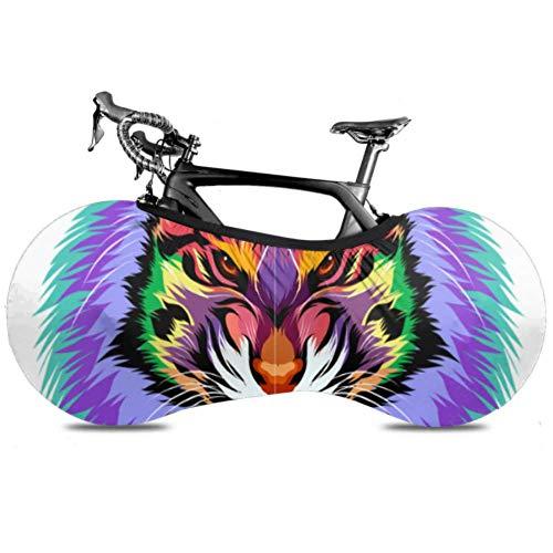 YUXB Fahrrad Radabdeckung Tiger Head Farbe Full Tee Anti-Staub-Bike Indoor Aufbewahrungstasche Kratzfest, Waschbar Hochelastische Reifen Paket Straße MTB Protecti