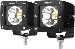 Auxbeam 3 Inch LED Pods 16w LED Light pods Bicolor Series Fog Lights Square Cube Lights Spot Beam Driving Light Waterproof for Offroad Truck 4WD SUV ATV UTV (Pack of 2)