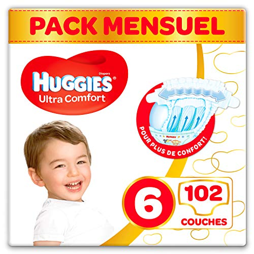 Huggies Ultra Comfort - taille 6 (15-30 kg) - 3 x 34 couches (102 unités)