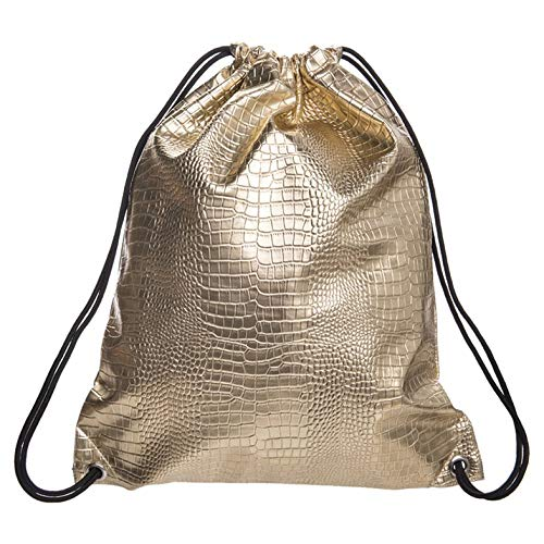 pua38655 PU Design Multifunctional Large Capacity Makeup Bag Cosmetic Organizer Leather Bundle Pocket Travel Wash Pouch Bag - Golden