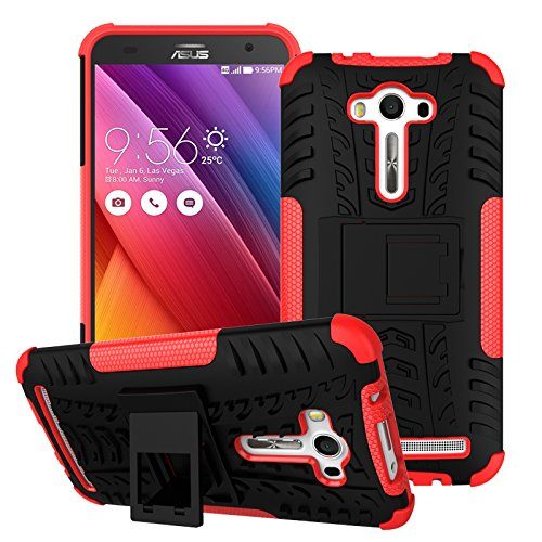 Jielangxin Funda para ASUS ZenFone 2 Laser ZE550KL,Teléfono con Soporte a Prueba de Golpes Funda para ASUS ZenFone 2 Laser ZE550KL 5.5 Carcasa Case Funda Red