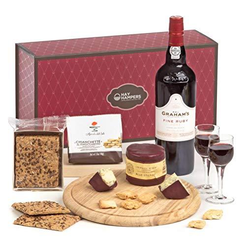 Hay Hampers Port, Stilton & Crackers Hamper Gift Box - FREE UK Delivery