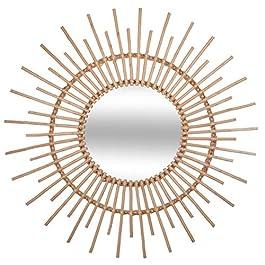 UNIVERS-DECOR Miroir déco rotin diamètre 76 cm Atmosphera