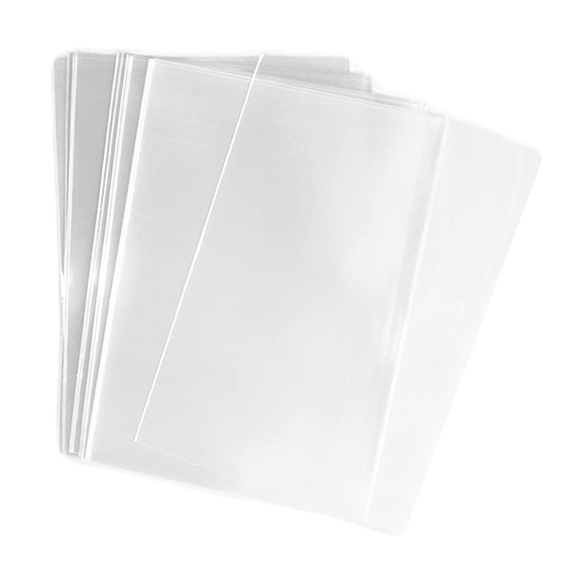 UNIQUEPACKING 100 Pcs 3x5 (O) Clear Flat Cello / Cellophane Bags Good for Candies Cookie Treat