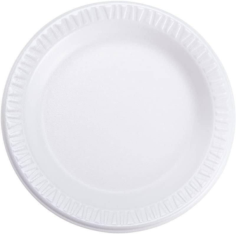 DART 6PWC 6 Foam Plate Concorde Non Laminated Foam Dinnerware White