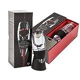 Fosfun FSD01 Aeratore decantatore di vino con base per il vino rosso, il regalo perfetto per uomini e donne, regalo di Natale, nero (FSD01)
