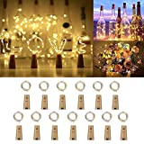 [13 Piezas] Luces para Botellas, Zorara 2m 20 LEDs Lámparas de Botellas con Pilas, Luz de Botella para Decoración de Boda, DIY Fiesta, Celebración, Blanco Cálido [Clase de eficiencia energética A]