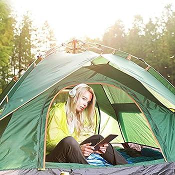 Further Tente De Camping, Tente Escamotable pour 2 Personnes, Tente De Dôme Portable Instantanée Automatique, Étanche Et Protection UV