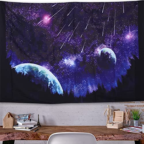 Black Forest Moon Galaxy Tapestry - Tapestry For Bedroom Room Decor Wall Hanging Trippy Decor Tapestr, Suitable For Bedroom, Living Room, Dormitory, Wall Decoration (solar system)