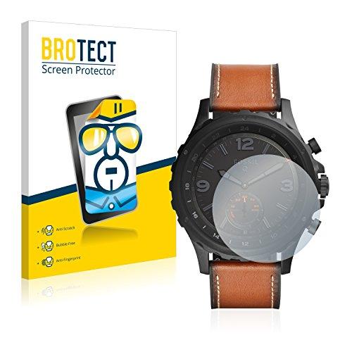 BROTECT Schutzfolie kompatibel mit Fossil Q Nate (2 Stück) klare Bildschirmschutz-Folie