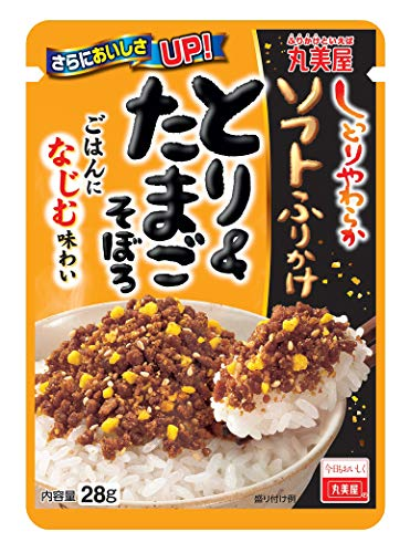 Japanse Furikake Rijst kruiden Marumiya besprenkeld zacht & ei gehakt 28g Ã- 10 stuks