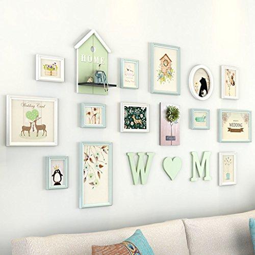Cadre décoratif Cadres de photo de salon, 12 PCs / ensembles de cadre de photo de Collage Set, cadres de photo de cru, cadre de photo de famille muraux de cadre de photo de BRICOLAGE pour le mur ( Couleur : C )