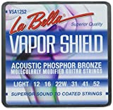 La Bella VSA1252 Vapor Shield Acoustic Guitar Strings, Light 12-52