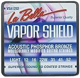 La Bella VSA1252 Vapor Shield Acoustic Guitar Strings, Light 12-52