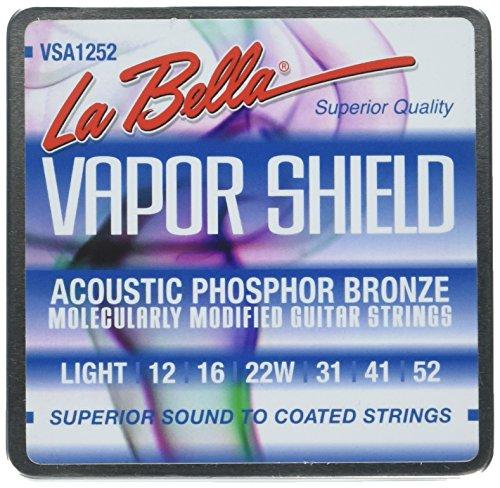 La Bella VSA1252 Jeu de cordes pour guitare acoustique Lumière 12-52
