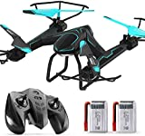 Mnjin Télécommande portative Land Air Dual-Mode Flight Racing, Mini Drone RC Quadcopter Pocket Drone 2.4GHZ 4CH 6Axis Aircraft with Interactive Sensing Control, Altitude Hold Real-Time Aerial