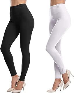 Womens Ankle Length Leggings Buttery Soft High Waisted Stretch Basic Solid Full Length Leggings Pants