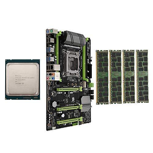 YF-CHEN Board X79-P3 LGA2011 Motherboard Combo Set with E5 1650 V2 CPU 4X8GB 32GB DDR3 RAM 4-Ch 1600Mhz REG ECC NGFF M.2 SSD Slot Computer