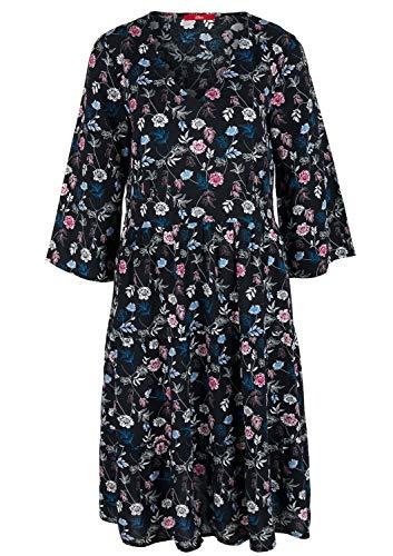 s.Oliver Damen 21.912.82.4287 Kleid, Schwarz (Black 99A0), (Herstellergröße:46)