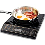 Duxtop 1800W Portable Induction Cooktop Countertop Burner, Gold 9120MC/BT-M20B