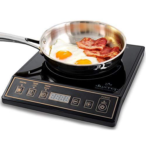 Duxtop 1800W Portable Induction Cooktop Countertop Burner, Gold