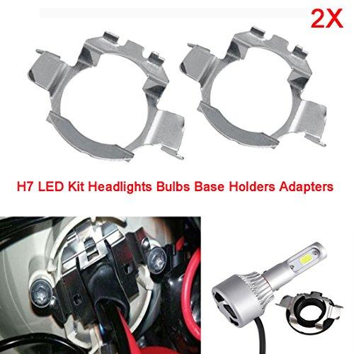 Adaptateurs de supports base de H7 Ampoules Phares LED pour 5 Series X5 A3 A4L A6L en métal