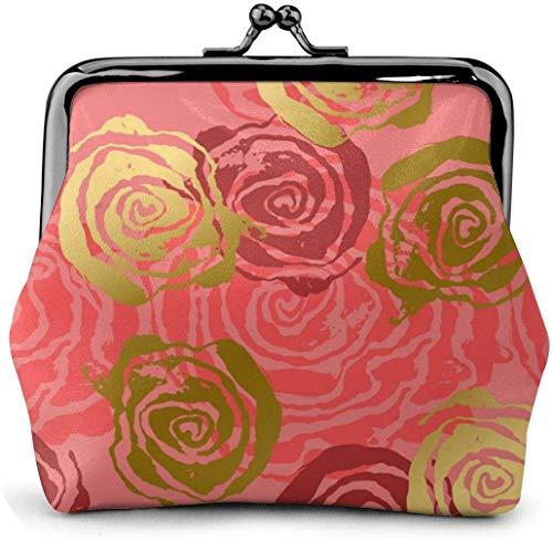 DAWN & ROSE portemonnee bloem birdie-boom-olieverfschilderij-print vrouwen-zakje -lock muntzakje Wallets