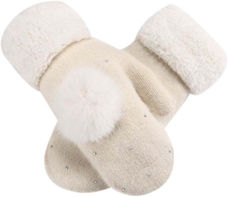 Panda Legends White, Woollen Gloves Lovely Winter Gloves Women Mitten to Keep Warm