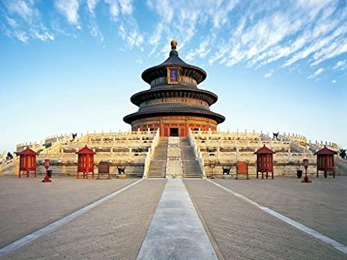Rompecabezas Puzzle 1000 Piezas-Templo del Cielo, Beijing, China-Puzzle Adultos, para Educativo El Alivio del Estrés Circular Desafío Intelectual Juegos Niños Adultos-50x75cm