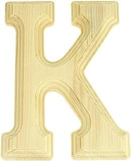 Homeford Pine Wood Beveled Wooden Letter K, Natural, 6-Inch