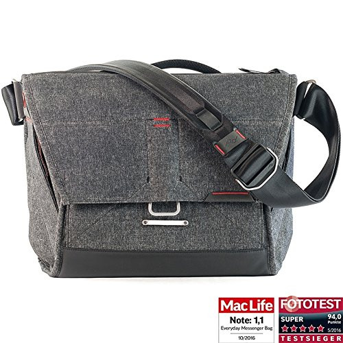Peak Design Everyday Messenger Bag 13 V2 Charcoal - Fototasche für 1 DSLR-Kamera, 1-2 Objektive, 1 13