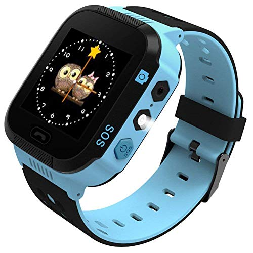 SZBXD Kids Smart Watch Phone, 1.44' GPS Tracker Smartwatch Touch Camera Games Flashlight SOS Alarm Clock Sports Wrist Watch Christmas Birthday Gifts for Girls Boys Children (T09-blue)