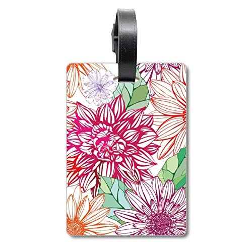 Etiqueta de identificación para Maleta con pompón de Flores para decoración de Color