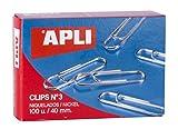 APLI 11712 - CLIP NICHELATI Nº3 40MM 100PZ