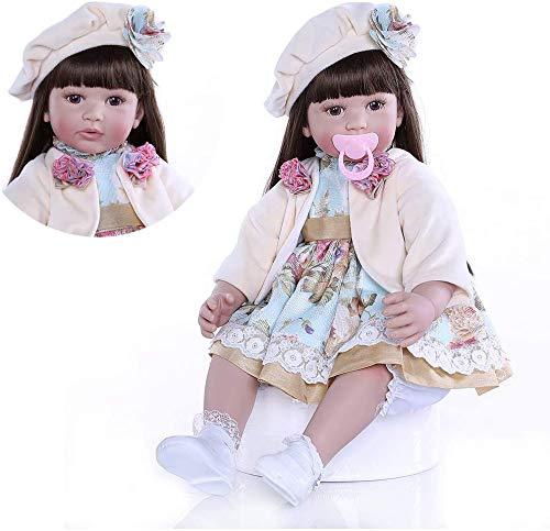 Pinky Reborn 24 Pulgadas 60cm Realista Muñecos bebé Renacer Bebé Hermosa Muñeca Silicona Bebe Reborn Toddler Niña Recien Nacido (Item 9)
