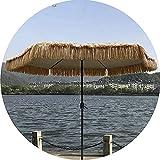 UWY Grande Patio Ombrellone da Giardino Ombrelloni di Paglia Anti-UV Anti-Sole e Vento Terrazza sulla Spiaggia Ombrellone da Giardino Ombrelloni in Paglia Intrecciata