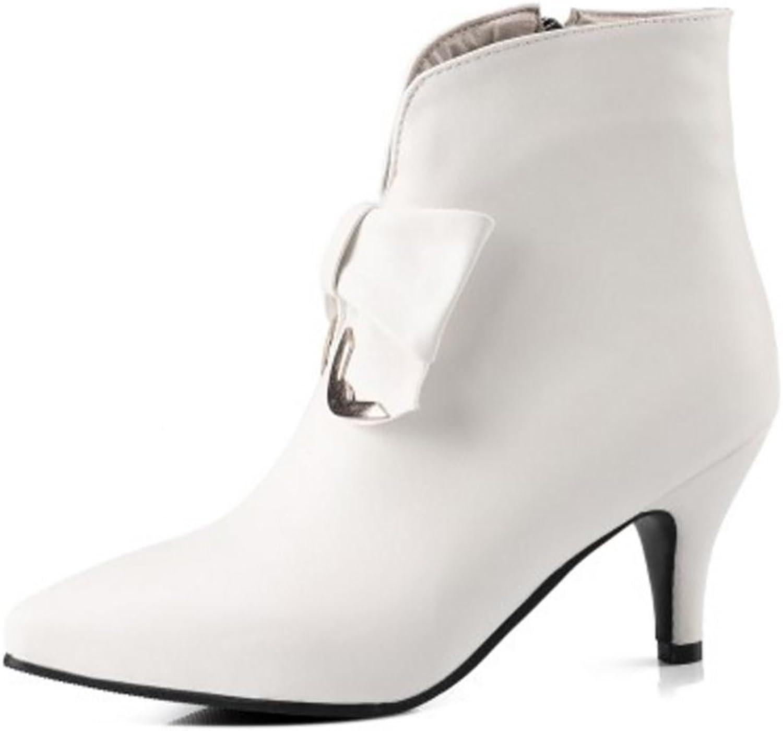 JOJONUNU Women Kitten Heel Bootie Boots