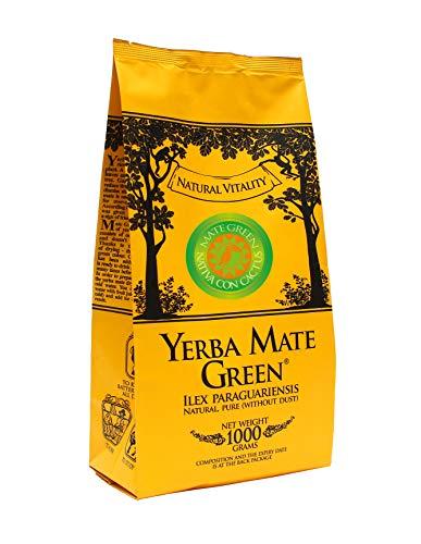 Yerba Mate Green Con Cactus   Grüner Tee Brasilianischer Mate-Tee 1000g   Yerba Mate Tee mit Früchten   Mate Tee sehr reich an Koffein   Hohe Qualität   Griechischer Bergtee  nicht rauchgetr   1000 g