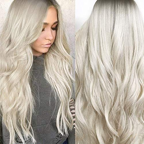 Bescita Mode Cheveux Perruques Big Wave sexy dégradé Blond fête des Perruques longs cheveux bouclés perruque synthétique Mélange de couleurs maquillage accessoire
