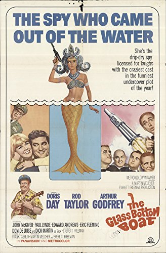 The Glass Bottom Boat 1966 Authentic 27' x 41' Original Movie Poster Doris Day Comedy U.S. One Sheet